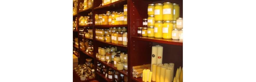 Pollen , propolis , miels et gelée royale