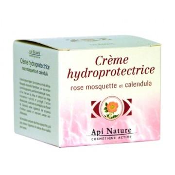 Crème hydro protectrice à la rose musquée et au calendula (50 ml)