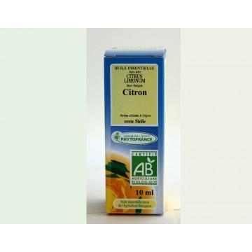 huile essentielle de citron BiO (10 ml)
