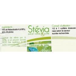 Stévia en poudre (pot de 60 gr)