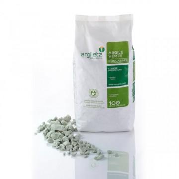 Argile verte concassée (1 kg)