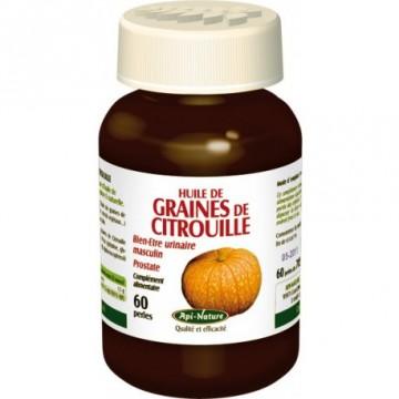 Huile de graine de citrouille (pépin de courge) 60 perles de 705mg
