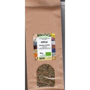 Myrtille (feuille entière) sachet de 50 gr
