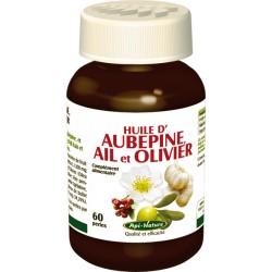 Huiles d'Aubépine, d'Ail et d'Olivier (60 perles de 700 mg)