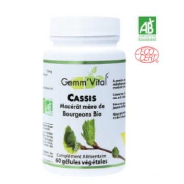 BOURGEONS DE CASSIS BiO sans alcool (60 gélules végétales de 150 mg)