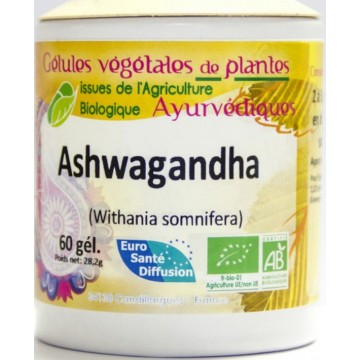 Ashwagandha (Ginseng indien BiO) 60 gélules végétales de 470 mg