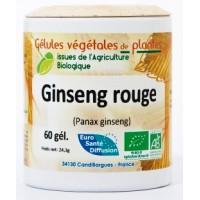 Ginseng rouge Bio (racine) 60 gélules végétales de 330 mg