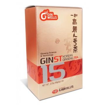 GinST15 Thé (30 sachets de ginseng de Corée de 3 gr)