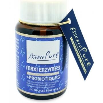 Maxi Enzymes + Probiotiques (40 gélules végétales de 770 mg)