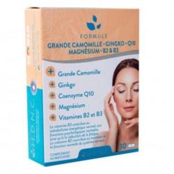 H.D.N.C Grande Camomille Ginkgo Coenzyme Q10 Magnésium Vitamines B2 et B3 (30 Comprimés)