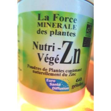 Nutri-Végé S (Zinc de plantes) 60 gélules végétales de 395 mg