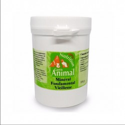 Minéral fondamental Vieillesse BiO pour votre chat et votre chien (pot de 100 gr en poudre)