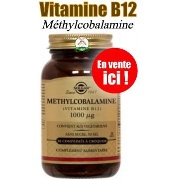Vitamine B12 500 µg (Gélules végétales)